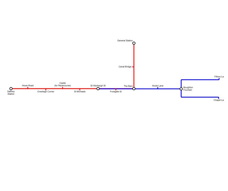 Chester Metro Map