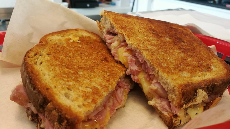 Grilled cheese and ham..