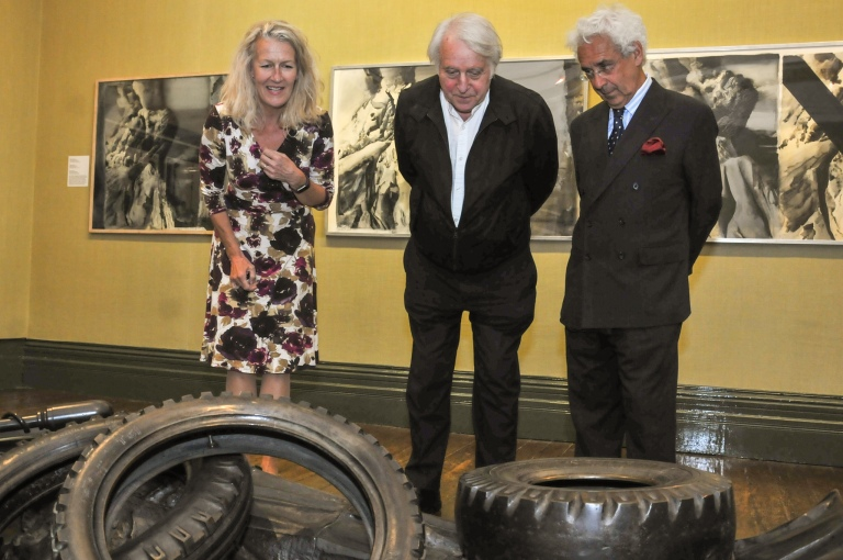 Cllr Louise Gittins, Michael Sandle, Sir Alan Moses