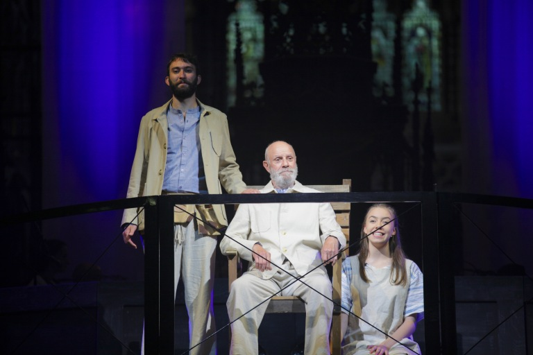 Nick Sherratt as Jesus, William Wood as God and Catherine Thomas as the Holy Spirit 3