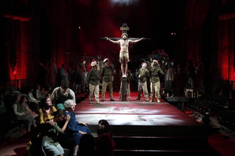 The Crucifixion scene
